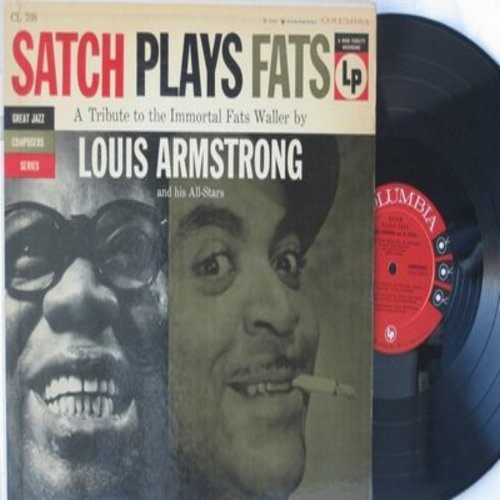 Armstrong, Louis - Satch Plays Fats - A Tribute to the Immortal Fats Waller: Ain't Misbehavin', Black And Blue, All That Meat And No Potatoes, Honeysuckle Rose (Vinyl MONO LP record, red label, 6 eyes) - NM9/VG7 - LP Records