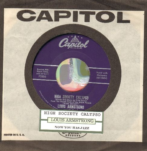 Armstrong, Louis - High Society Calypso/Now You Has Jazz (with vintage Capitol ciompany sleeve and juke box label) - EX8/ - 45 rpm Records