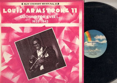 Armstrong, Louis - Satchmo For Ever! (1935-1945): Among My Souvenirs, Groovin', Rhythm Saved The World, Old Man Mose (vinyl LP record, 1980 issue of vintage Jazz recordings) - NM9/NM9 - LP Records