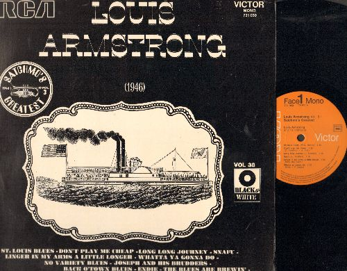 Armstrong, Louis - Satchmo's Greatest Vol. 3 (1946): St. Louis Blues, Do You Know What It Means To Miss New Orleans, Joseph And The Brudders, The Blues Are Brewin' (vinyl MONO LP record, 1960s French Pressing of vintage Jazz recordings) - NM9/NM9 - LP Rec