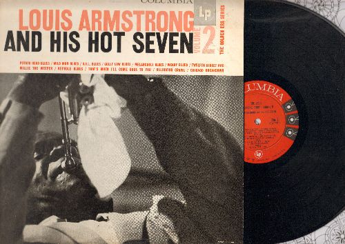 Armstrong, Louis & His Hot Seven - Louis Armstrong And His Hot Seven Vol. 2: Twelfth Street Rag, Willie The Weeper, Alligator Crawl, Keyhole Blues (vinyl MONO LP record) - NM9/NM9 - LP Records