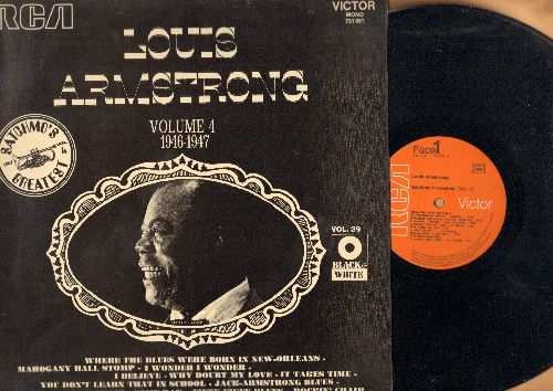 Armstrong, Louis - Louis Armstrong Vol. 4 - 1946-1947: Rockin' Chair, Fifty-Fifty Blues, Mahogany Hall Stomp (vinyl LP record, 1971 French Pressing of vintage recordings) - NM9/NM9 - LP Records