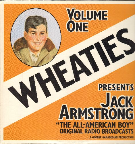 Jack Armstrong The All-American Boy - Wheaties Presents Jack Armstrong The All-American Boy -Volume One - Original 1933 Radio Broadcasts (vinyl LP record, 1973 issue) - NM9/NM9 - LP Records