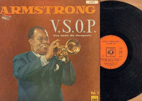 Armstrong, Louis - Armstrong V.S.O.P (Versy Special Old Photography): Heebie Jeebies, Cornet Shop Suey, Big Fat Ma And Skinny Pa (vinyl LP record, French Pressing) - NM9/EX8 - LP Records