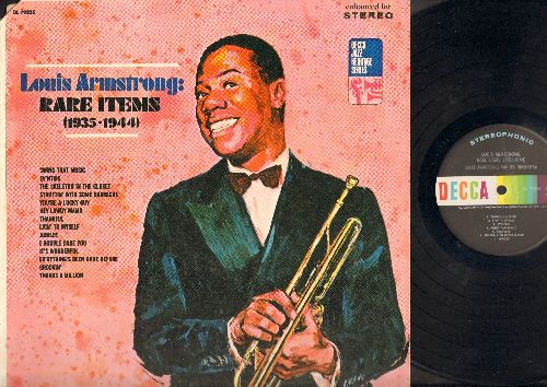 Armstrong, Louis - Louis Armstrong Rare items (1935-1944): Thanks A Million, Lyin To Myself, Ev'ntide, Swing That Music, Thankful, The Skeleton In The Closet, Jubilee, Struttin With Some Barbecue, I Double Dare You, It's Wonderful, ou're A Lucky Guy, Ever