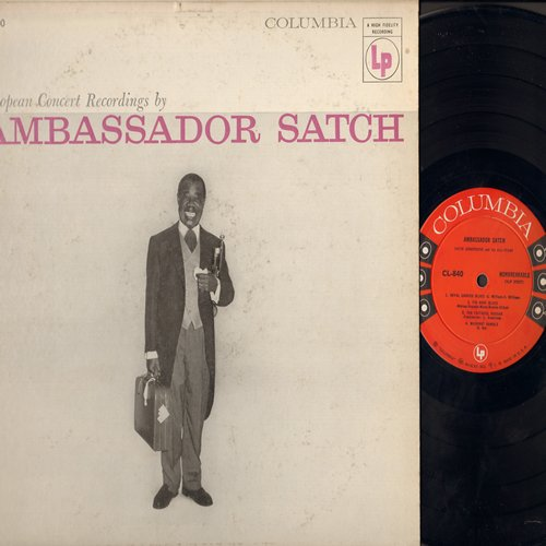 Armstrong, Louis - Ambassador Satch: Muskrat Rumble, All Of Me, Twelfth Street Rag, Undecided, Tiger Rag (Vinyl MONO LP record, red label 6 eyes) - EX8/VG7 - LP Records