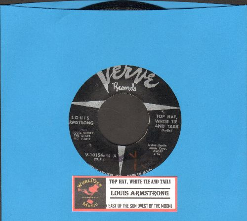 Armstrong, Louis - Top Hat, White Tie And Tails/East Of The Sun (west Of The Moon) 9with juke box label) - EX8/ - 45 rpm Records
