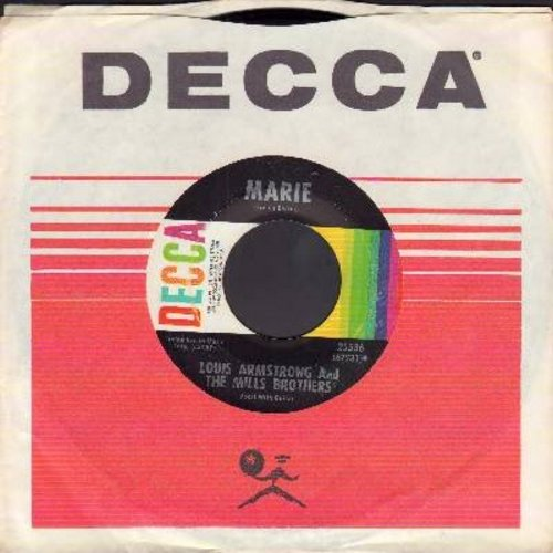 Armstrong, Louis & The Mills Brothers - Marie/Cherry (with Decca company sleeve) - NM9/ - 45 rpm Records