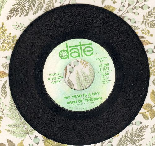 Arch Of Triumph - My Year Is A Day/She And I (DJ advance pressing) - EX8/ - 45 rpm Records