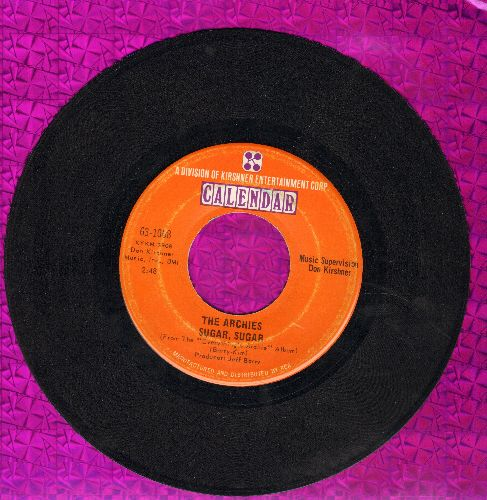 Archies - Sugar, Sugar (All-Time #1 Selling 45rpm record!)/Melody Hill (wol) - VG7/ - 45 rpm Records