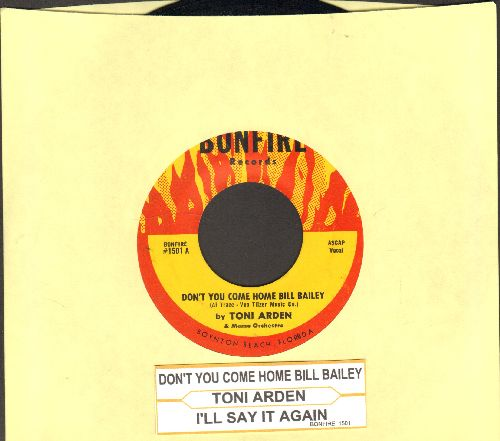 Arden, Toni - Don't You Come Home, Bill Bailey/I'll Say It Again (with juke box label) - NM9/ - 45 rpm Records