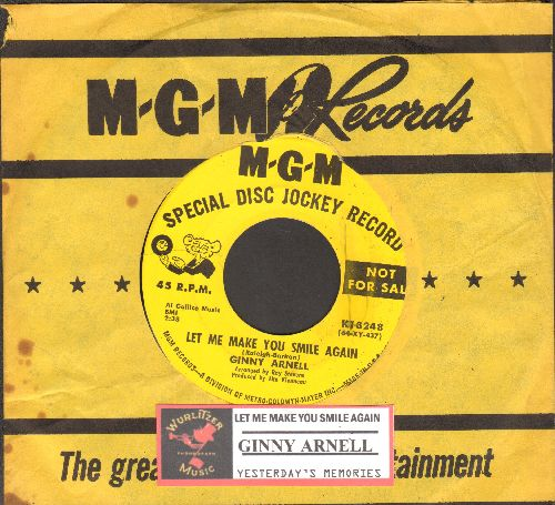 Arnell, Ginny - Let Me Make You Smile Again/Yesterday's Memories (DJ advance pressing withjuke box label and vintage MGM company sleeve)) - EX8/ - 45 rpm Records