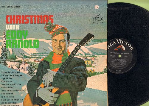 Arnold, Eddy - Christmas With Eddy Arnold: Will Santy Come To Shanty Town, Winter Wonderland, White Christmas, Christmas Can't Be Far Away, Jingle Bell Rock (Vinyl STEREO LP record, black label early pressing) - EX8/EX8 - LP Records