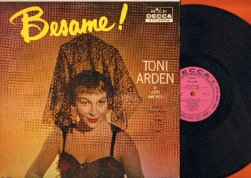 Arden, Toni - Besame! - Tomi Arden in Latin America: Perfidea, Kiss Of Fire, Besame Mucho, Adios (vinyl MONO LP record, DJ advance pressing) - NM9/EX8 - LP Records