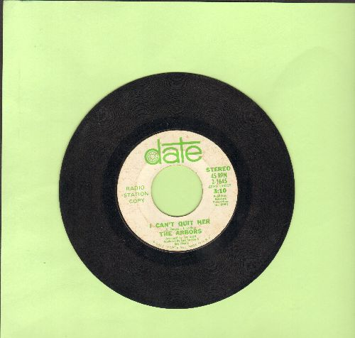 Arbors - I Can't Quit Her (double-A-sided DJ advance pressing) - VG7/ - 45 rpm Records