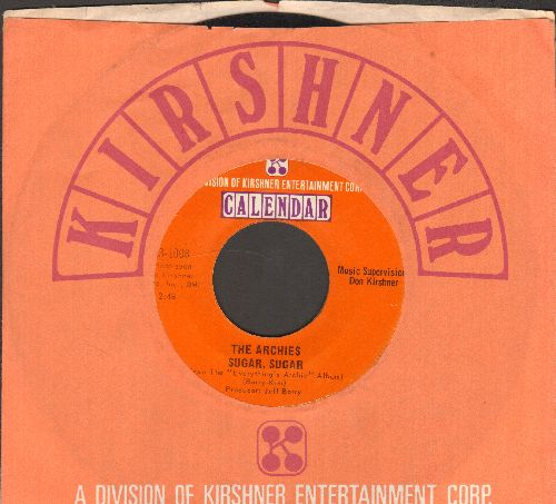 Archies - Sugar, Sugar (All-Time #1 Selling 45rpm record!)/Melody Hill (with Kirshner company sleeve) - EX8/ - 45 rpm Records