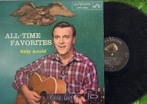 Arnold, Eddy - All-Time Favories: You Always Hurt The One You Love, The Prisoner's Song, The Missouri Waltz (vinyl MONO LP record, 1956 first pressing, NICE condition!) - NM9/EX8 - LP Records