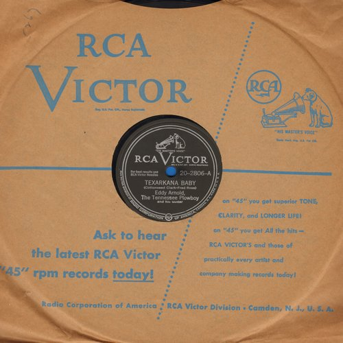 Arnold, Eddy - Texarkana Baby/Bouquet Of Roses (10 inch 78 rpm record with RCA company sleeve) - EX8/ - 78 rpm