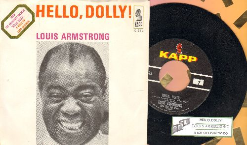 Armstrong, Louis - Hello, Dolly!/A Lot Of Livin' To Do (with picture sleeve) - NM9/NM9 - 45 rpm Records
