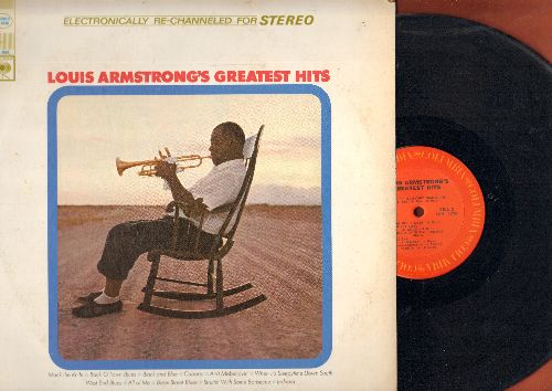 Armstrong, Louis  - Louis Armstrong's Greatest Hits: Mack The Knife, Ain't Misbhavin', Cabaret, All Of Me (vinyl STEREO LP record) - NM9/EX8 - LP Records