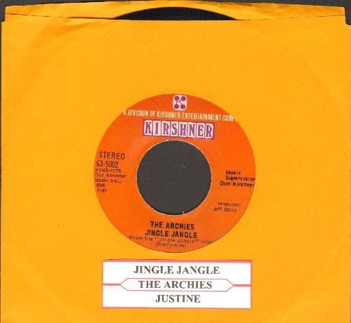 Archies - Jingle Jangle/Justine (with juke box label) - NM9/ - 45 rpm Records