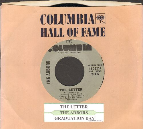 Arbors - The Letter/Graduation Day (double-hit re-issue with juke box label and Columbia company sleeve) - M10/ - 45 rpm Records