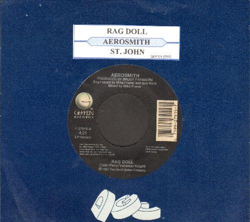 Aerosmith - Rag Doll/St. John (with juke box label and Geffen company sleeve) - VG7/ - 45 rpm Records