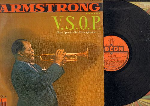 Armstrong, Louis - V.S.O.P. (Very Special Old Phonography): St. Louis Blues, Dinah, Tiger Rag, I'm A Ding Dong Daddy, Bessie Couldn't Help It (vinyl LP record, French Pressing) - EX8/VG7 - LP Records