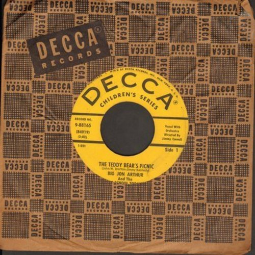 Arthur, Big John & The No School Today Cast - The Teddy Bear's Picnic/At The Teddy Bear's Birthday Party (with vintage Decca company sleeve) - VG6/ - 45 rpm Records