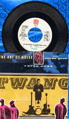 Art Of Noise featuring Duane Eddy - Peter Gunn/Something Always Happens (with picture sleeve) - NM9/EX8 - 45 rpm Records