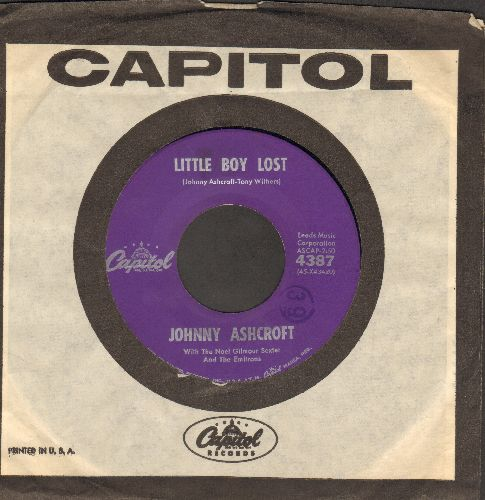 Ashcroft, Johnny - My Love Is A River/Little Boy Lost (RARE Vintage Rock & Roll 2-sider with Capitol company sleeve) - NM9/ - 45 rpm Records