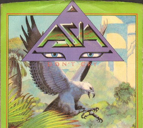 Asia - Don't Cry/Daylight (with picture sleeve) - M10/EX8 - 45 rpm Records