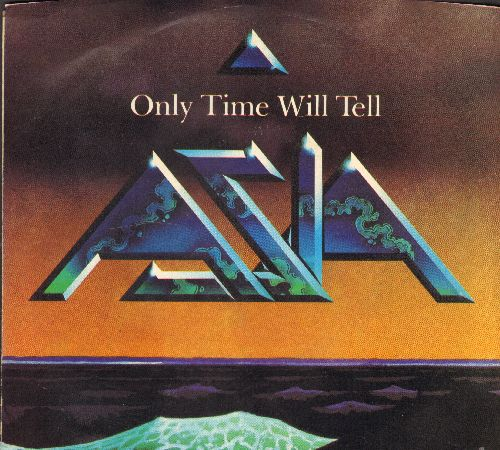 Asia - Only Time Will Tell/Time Again (with picture sleeve) - NM9/NM9 - 45 rpm Records