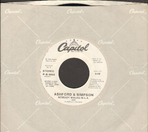 Ashford & Simpson - Nobody Walks In L.A. (MINT condition double-A-sided DJ advance pressing with Capitol company sleeve) - M10/ - 45 rpm Records