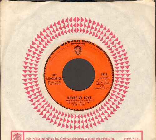 Association - Never My Love/Requiem For The Masses (with company sleeve) - NM9/ - 45 rpm Records