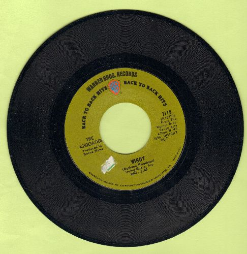 Association - Windy/Never My Love (green label early double-hit re-issue) - NM9/ - 45 rpm Records