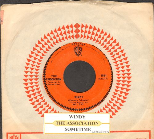 Association - Windy/Sometime (with juke box label and company sleeve) - EX8/ - 45 rpm Records