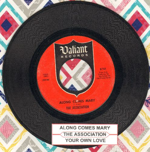 Association - Along Comes Mary/Your Own Love (with juke box label) - EX8/ - 45 rpm Records