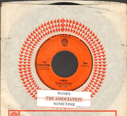 Association - Windy (featured in episode of Cult TV Series -Breaking Bad-)/Sometime (with juke box label and Warner Brothers company sleeve) - EX8/ - 45 rpm Records