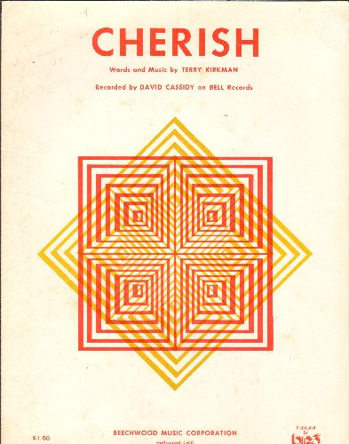 Cassidy, David - Cherish - SHEET MUSIC for the Hit recorded by David Cassidy - EX8/ - Sheet Music