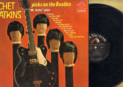 Atkins, Chet - Chet Atkins Picks On The Beatles: Yesterday, Hard Day's Night, I Feel Fine, She Loves You, Michelle, Can't Buy Me Love (vinyl MONO LP: record) - EX8/VG6 - LP Records