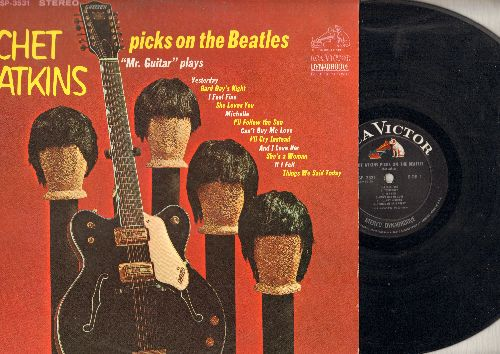 Atkins, Chet - Chet Atkins Picks On The Beatles: Yesterday, Hard Day's Night, She Loves You, Michelle, I Feel Fine (vinyl STEREO LP record) - EX8/EX8 - LP Records