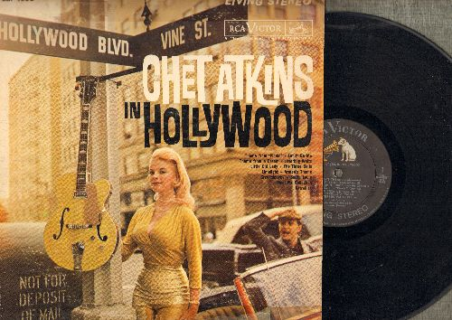 Atkins, Chet - Chet Atkins In Hollywood: Let It Be Me, The Three Bells, Limelight, Picnic (vinyl STEREO LP record, Cheesecake cover art!) - NM9/VG7 - LP Records