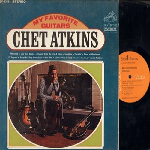 Atkins, Chet - My Favorite Guitars: Sukiyaki, It Don't Mean A Thing (If It Ain't Got That Swing), Wimoweh, One Note Samba (Vinyl STEREO LP record) - NM9/EX8 - LP Records