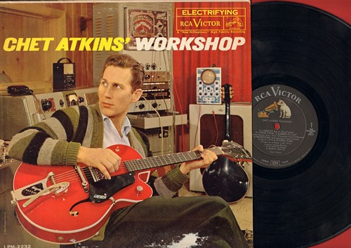 Atkins, Chet - Workshop: Lambeth Walk, Theme From -A Summer Place-, In A Little Spanish Town, Tammy, Whatever Will Be Will Be (Vinyl MONO LP record) - NM9/VG7 - LP Records