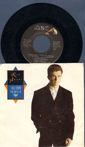 Astley, Rick - Together Forever/I'll Never Set You Free (with picture sleeve) - M10/EX8 - 45 rpm Records