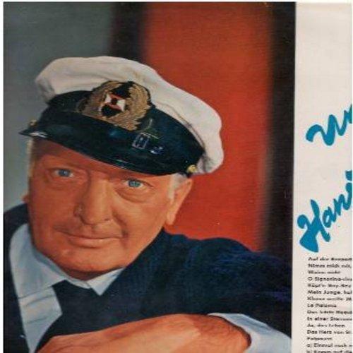 Albers, Hans - Unser Hans Albers: Auf der Reeperbahn nachts um halb eins, La Paloma, Nimm mich mit Kapitan auf die Reise, Kleine weisse Mowe (Vinyl LP record, German pressing, sung in German) - NM9/VG7 - LP Records