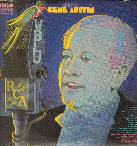 Austin, Gene - This Is Gene Austin: Ramona, St. Louis Blues, Ain't Misbehavin', Ain't She Sweet, My Blue Heaven, My Melancholy Baby (2 vinyl LP record, 1970s issue of vintage recordings), gate-fold cover) - EX8/VG7 - LP Records