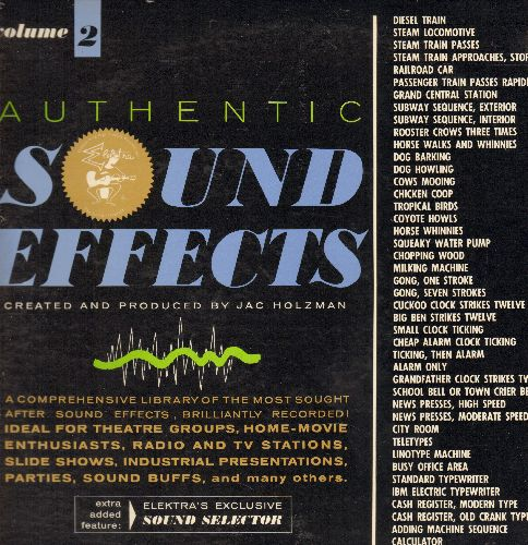 Sound Effects - Authentic Sound Effects Vol. 2 - Comprehensive library of the most sought after sound effects, brilliantly recorded! (vinyl LP record) - NM9/NM9 - LP Records