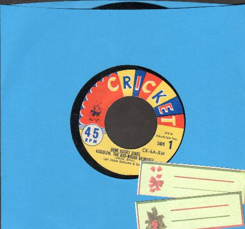 Autry, Gene & The Cricketones - Rudolph The Red-Nosed Reindeer/Tinker Town Santa Claus - EX8/ - 45 rpm Records